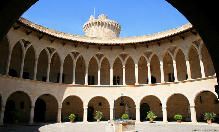 Innenhof, Castell de Bellver, Mallorca