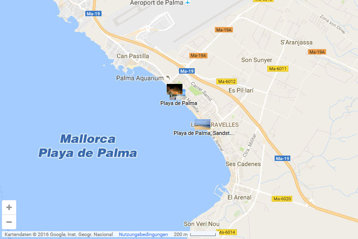 Karte Hotels Mallorca